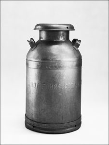 Barbara Carpenter's milk can